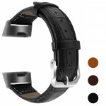 Fitbit Charge 3 Genuine Leather Band Strap Men Women Wristband