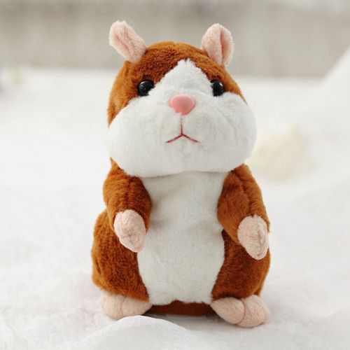 15cm Lovely Talking Hamster Sound Record Repeat Stuffed Plush Animal Kawaii Hamster Toys