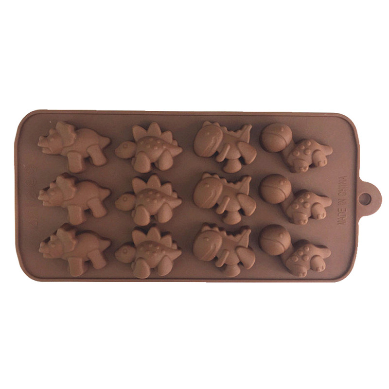 12-Cavity Dinosaurs Silicone Mould