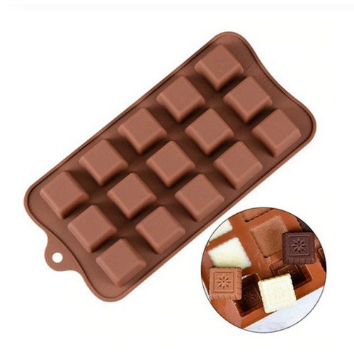 15-Cavity Fancy Squares Silicone Mould