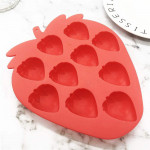 10-Cavity Strawberries Silicone Mould