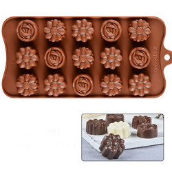 15-Cavity Flowers Silicone Mould