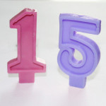 10-Cavity 3D Numbers Silicone Candle Mould