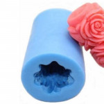 Wedding Rose Cylinder Silicone Candle Mould - Style B