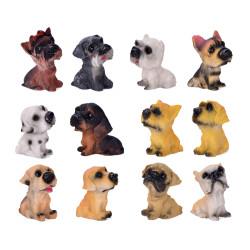 12Pcs Assorted Miniature Dogs