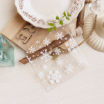 100Pcs White Snowflakes Packing Bags 10cm by 10cm