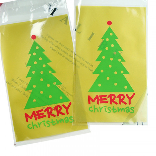 100Pcs Christmas Tree Candy Packing Bag 9.3cm by 15cm