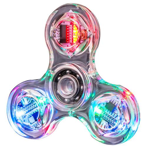 LED Fidget Spinner Rainbow Clear Kid Toy