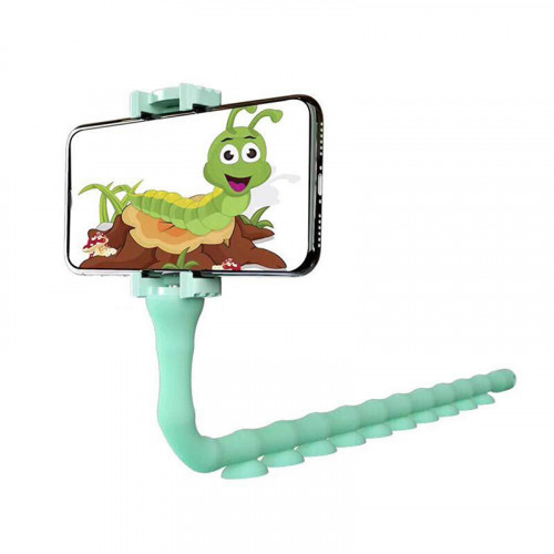 Lazy Worm Suction Cups Flexible Mobile Phone Holder