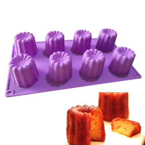 8-Cavity Swirl mini cake Silicone Mould