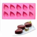10-Cavity Leaf Silicone Chocolate Mould