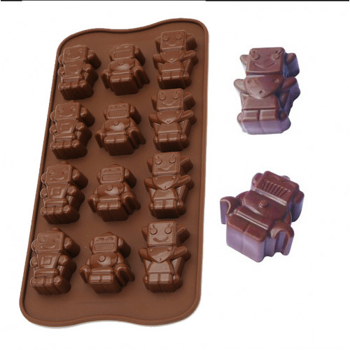 12-Cavity Robot Silicone Chocolate Mould