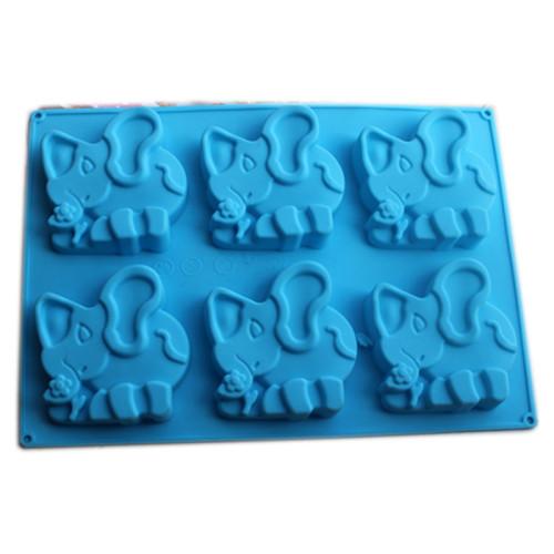6-Cavity Animal Elephant Silicone Mould