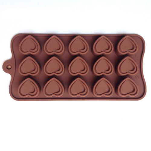 15-Cavity mini Heart Silicone Chocolate Mould