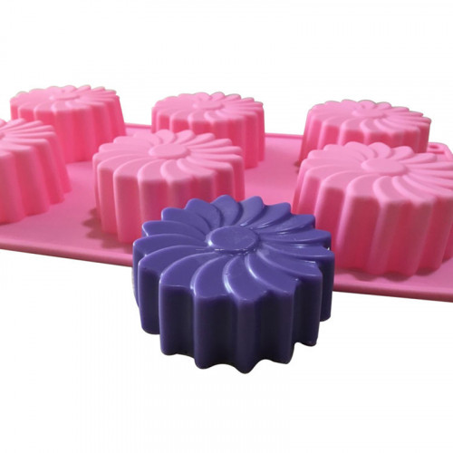 6-Cavity Round Windmill Silicone Mould