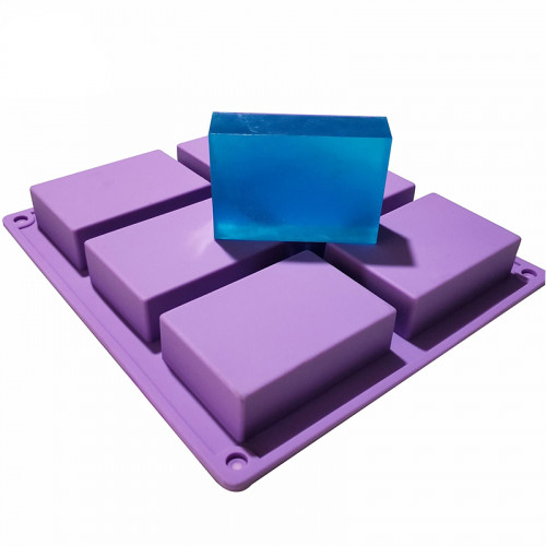 6-Cavity Rectangle Quality Silicone Soap Mould