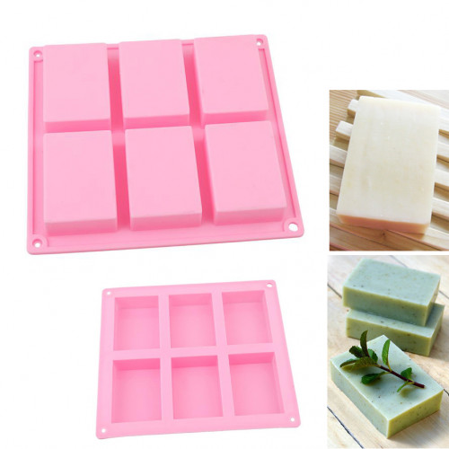 6-Cavity Rectangle Silicone Soap Molds