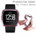 Screen Protector For Fitbit Versa Soft Slim TPU Full-Around Smartwatch Protective Case Cover