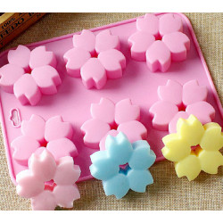 6-Cavity Cherry Flowers Silicone Mould