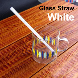 Glass Drinking Straw - White