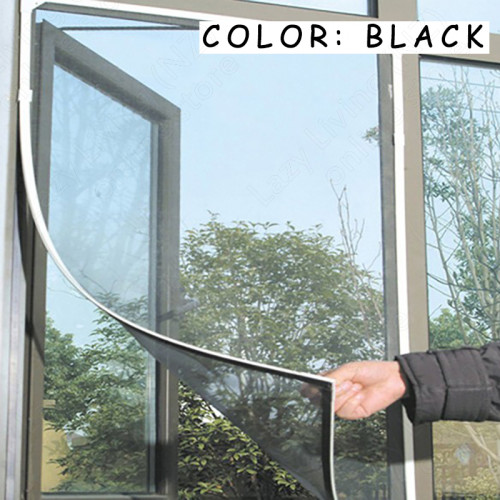 Privacy Black DIY Insect Mosquito Net Window Screen 1.5M