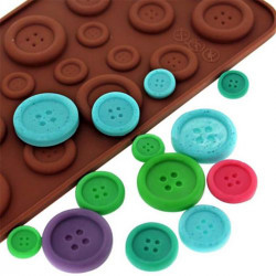 19 Cavity Buttons Silicone Mould Fondant Silicon Gel Mold