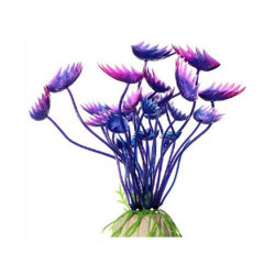 Aquarium Simulation Plastic Aquatic Plant, 11cm, Purple