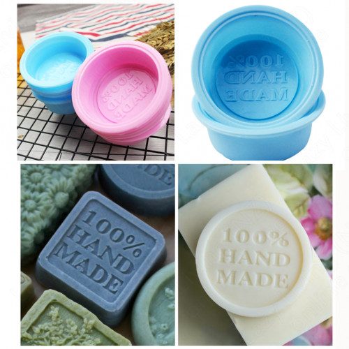 Soap Mold - 100% Handmade Round Silicone Mould