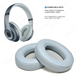 1 Pair Replacement Ear pads Cushion Covers for Beats Studio 2, Studio 3 Wireless (LIGHT GREY)