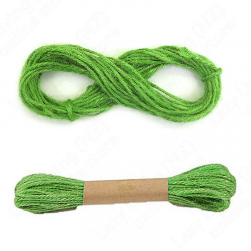 10M Jute Twine Wrap Gift Rope Ribbon Cord String Vintage - light green