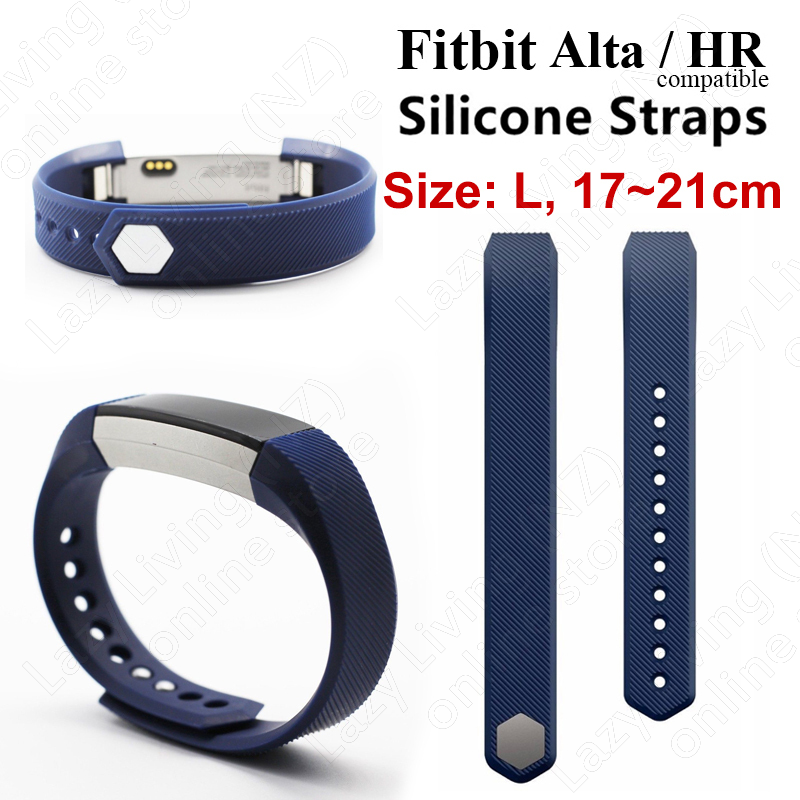 Fitbit Alta / HR Silicone Watch Band Compatible (large) - navy