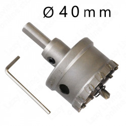 40mm Tungsten Carbide Tipped Hole Saw 4 Steel TCT, aluminum / metal / steel etc