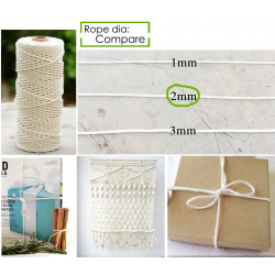 100 Meter (1 Roll) Cotton Twine - Off White, High Quality