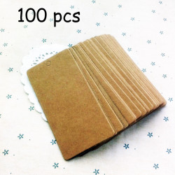 100pcs Natural Brown Craft Papercards Kraft Tags 5*10cm