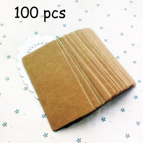 100pcs x brown craft papercards Kraft Tags 5*10cm