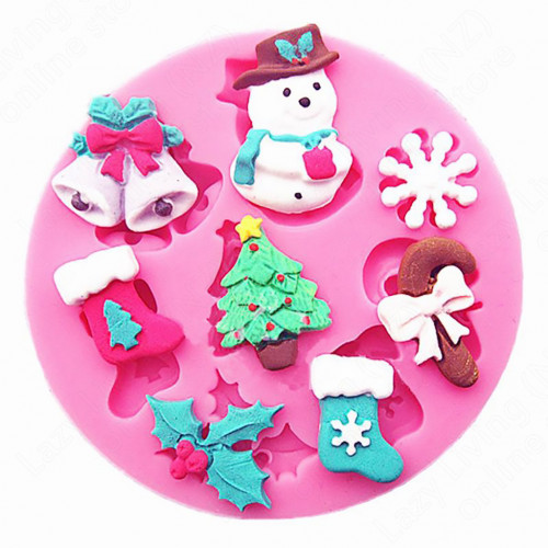 Silicone Mould Chrismas Snowman Collection Fondant Cake
