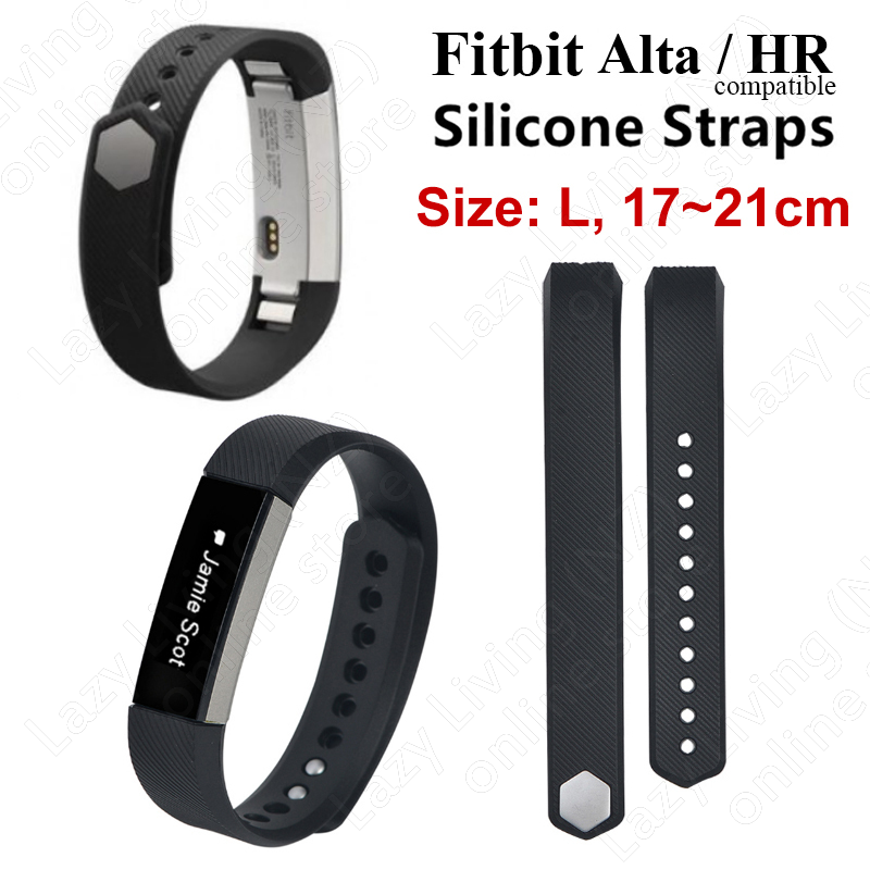 Fitbit Alta / HR Silicone Watch Band Compatible (large) - black