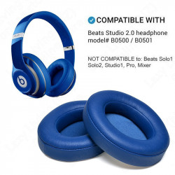 2* Replacement Ear pads Cushion Covers for Beats Studio 2.0 Wireless (BLUE)