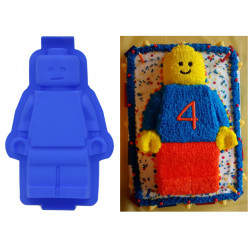 Large Lego Style Cake Mold Minifigure Party - For Lego Lovers