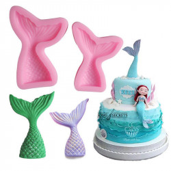 Mermaid Tail Silicone Mould Cake Decorating Fondant Mold
