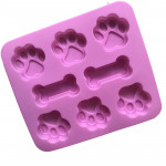 Silicone Mould Ice Chocolate Cat Paw Dog Bone Silicon Molds - home made treats for your pet