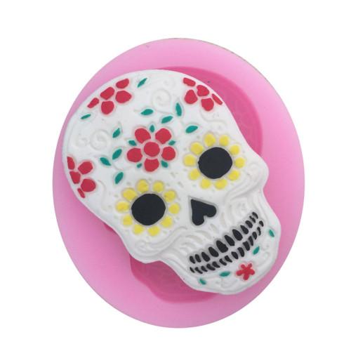 Skull Fondant Mold Silicone Mold Decorating Cake Mould