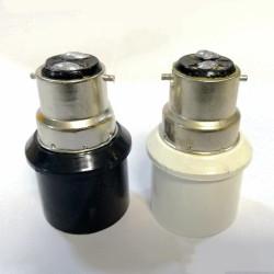 B22 to E27 LED Light Adapter - BLACK/WHITE
