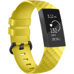 Fitbit Compatible Charge 3 New Diamond Silicone Watch Band Replacement S/L
