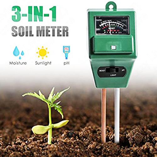PH Tester 3-in-1 for Soil, Moisture, Light