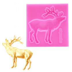 Reindeer Roaring Silicone Mould