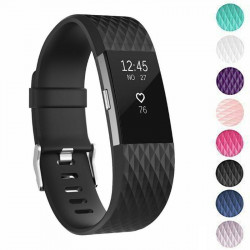 New Diamond Fitbit Compatible Charge 2 Silicone Watch Band Replacement