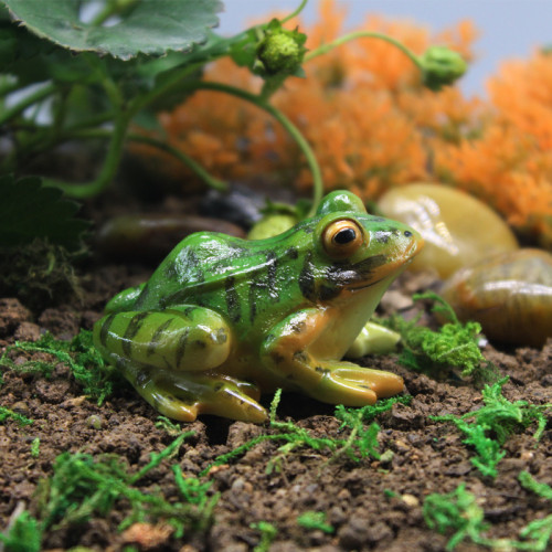 Green Frog 6.5cm Miniature Fairy Garden Home Decor