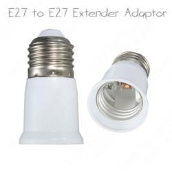 E27 to E27 Light Lamp Extension 65mm Socket Adapter