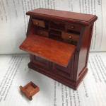 Antique Style Dollhouse Cabinet w Drawers Doors Removable Handmade Wooden Furniture
